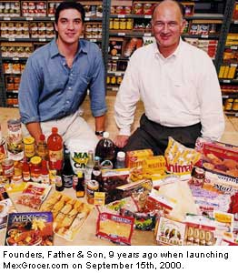 MexGrocer.com Founders on Sept 15, 2000.