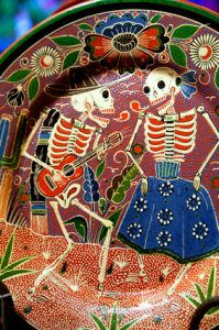 A Day of the Dead Plate