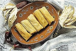 Grilled Tamales Awaiting the Cream