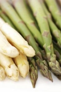 White and Green Asparagus Tips