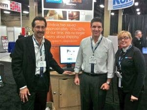 NPF 2010 at Endicia Booth with Amine Khechfe, Nacho Hernandez and Candy Booth.