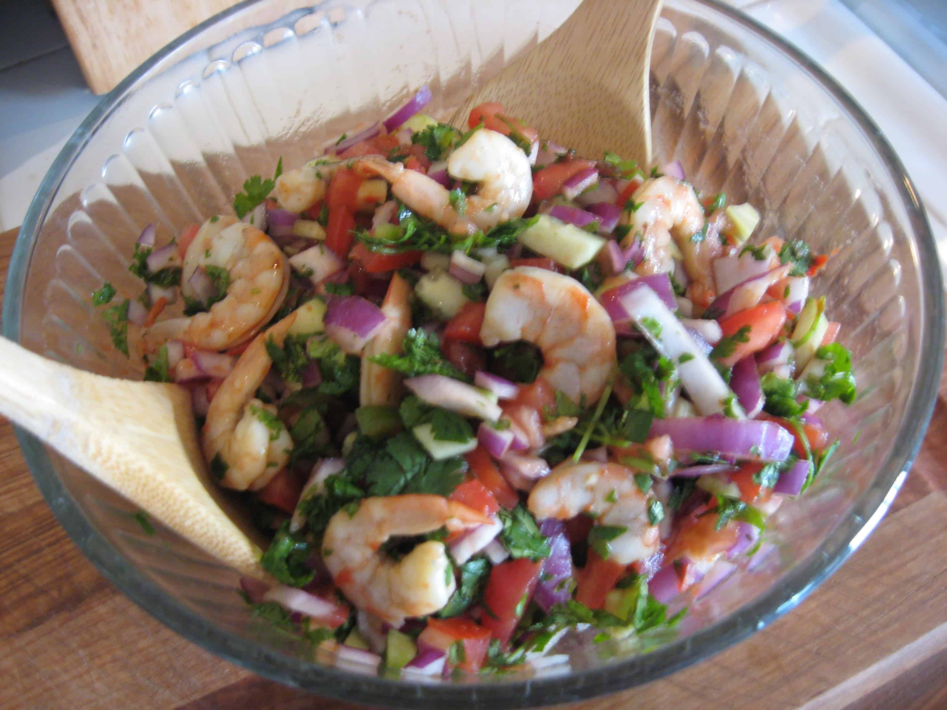 Late summer shrimp ceviche for Shrimp and fish ceviche