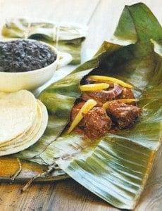 Mayan Chicken in Banana Leaf