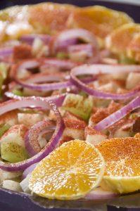 Orange and jicama salad