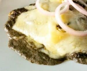Crepes with Cuitlacoche