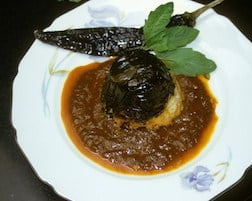 Ancho Stuffed with Picadillo