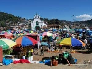 Outdoor Market at San Cristobal de las Casas